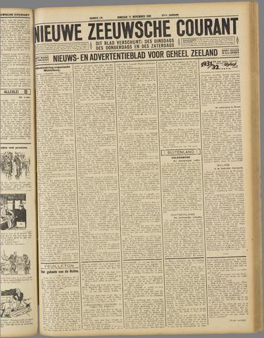 Nieuwe Zeeuwsche Courant 1931-11-17