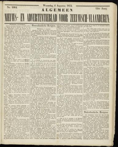 Ter Neuzensche Courant. Algemeen Nieuws- en Advertentieblad voor Zeeuwsch-Vlaanderen / Neuzensche Courant ... (idem) / (Algemeen) nieuws en advertentieblad voor Zeeuwsch-Vlaanderen 1875-08-04