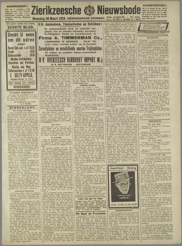 Zierikzeesche Nieuwsbode 1925-03-30