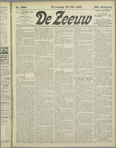 De Zeeuw. Christelijk-historisch nieuwsblad voor Zeeland 1918-05-29