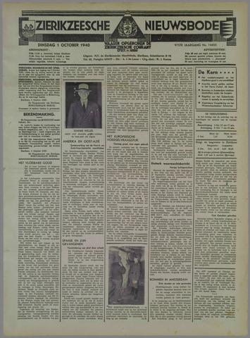 Zierikzeesche Nieuwsbode 1940-10-01