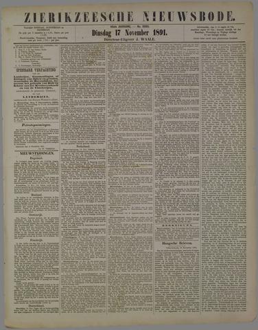 Zierikzeesche Nieuwsbode 1891-11-17