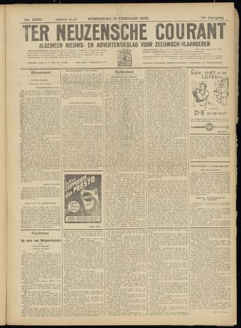 Ter Neuzensche Courant. Algemeen Nieuws- en Advertentieblad voor Zeeuwsch-Vlaanderen / Neuzensche Courant ... (idem) / (Algemeen) nieuws en advertentieblad voor Zeeuwsch-Vlaanderen 1935-02-13