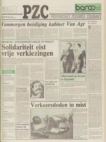 Provinciale Zeeuwse Courant 1981-09-11