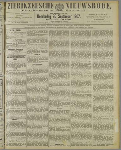 Zierikzeesche Nieuwsbode 1907-09-26