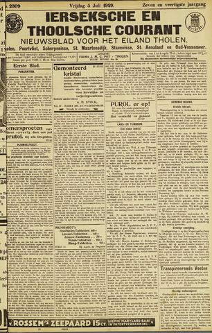 Ierseksche en Thoolsche Courant 1929-07-05