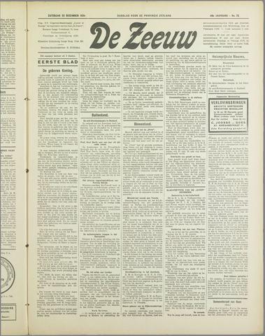 De Zeeuw. Christelijk-historisch nieuwsblad voor Zeeland 1934-12-22