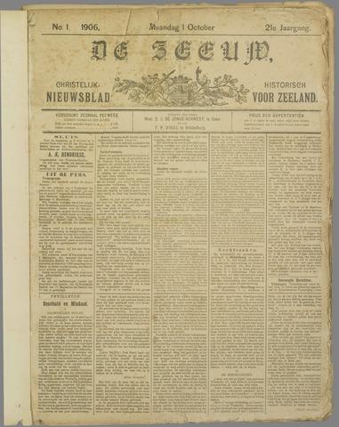 De Zeeuw. Christelijk-historisch nieuwsblad voor Zeeland 1906-10-01