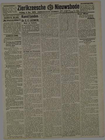 Zierikzeesche Nieuwsbode 1925-12-04