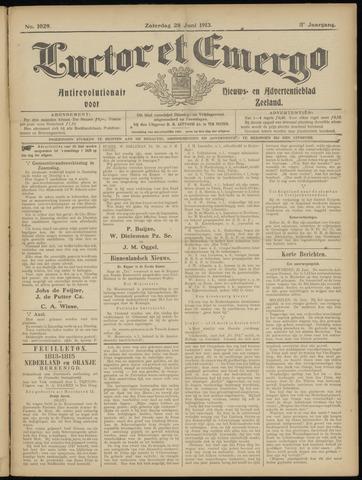 Luctor et Emergo. Antirevolutionair nieuws- en advertentieblad voor Zeeland / Zeeuwsch-Vlaanderen. Orgaan ter verspreiding van de christelijke beginselen in Zeeuwsch-Vlaanderen 1913-06-28