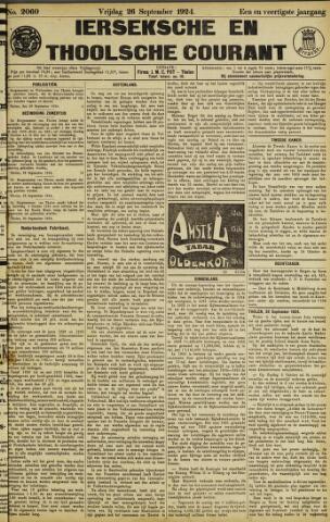 Ierseksche en Thoolsche Courant 1924-09-26