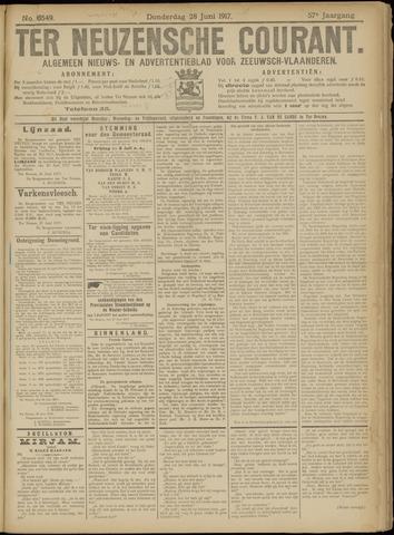 Ter Neuzensche Courant. Algemeen Nieuws- en Advertentieblad voor Zeeuwsch-Vlaanderen / Neuzensche Courant ... (idem) / (Algemeen) nieuws en advertentieblad voor Zeeuwsch-Vlaanderen 1917-06-28