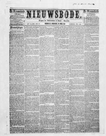 Sheboygan Nieuwsbode 1859-04-20