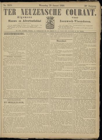 Ter Neuzensche Courant. Algemeen Nieuws- en Advertentieblad voor Zeeuwsch-Vlaanderen / Neuzensche Courant ... (idem) / (Algemeen) nieuws en advertentieblad voor Zeeuwsch-Vlaanderen 1890-01-29