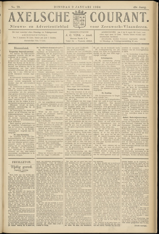 Axelsche Courant 1934-01-09