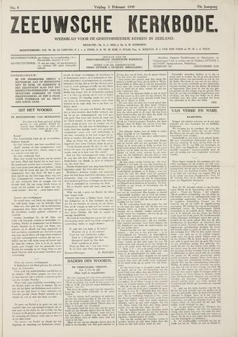 Zeeuwsche kerkbode, weekblad gewijd aan de belangen der gereformeerde kerken/ Zeeuwsch kerkblad 1939-02-03