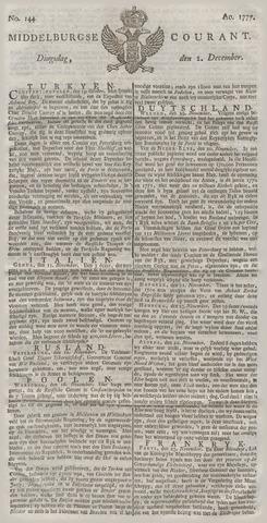 Middelburgsche Courant 1777-12-02