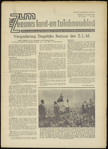 Zeeuwsch landbouwblad ... ZLM land- en tuinbouwblad 1964-07-31