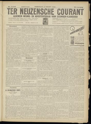 Ter Neuzensche Courant. Algemeen Nieuws- en Advertentieblad voor Zeeuwsch-Vlaanderen / Neuzensche Courant ... (idem) / (Algemeen) nieuws en advertentieblad voor Zeeuwsch-Vlaanderen 1940-03-27