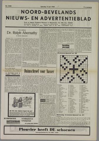 Noord-Bevelands Nieuws- en advertentieblad 1968-07-13