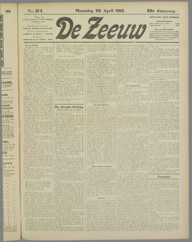 De Zeeuw. Christelijk-historisch nieuwsblad voor Zeeland 1915-04-26