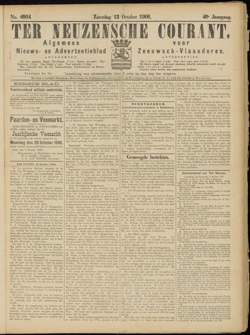 Ter Neuzensche Courant. Algemeen Nieuws- en Advertentieblad voor Zeeuwsch-Vlaanderen / Neuzensche Courant ... (idem) / (Algemeen) nieuws en advertentieblad voor Zeeuwsch-Vlaanderen 1906-10-13