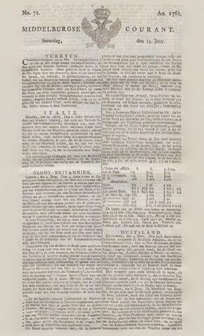 Middelburgsche Courant 1761-06-13
