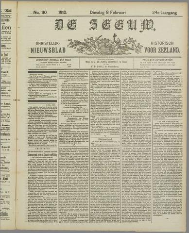 De Zeeuw. Christelijk-historisch nieuwsblad voor Zeeland 1910-02-08