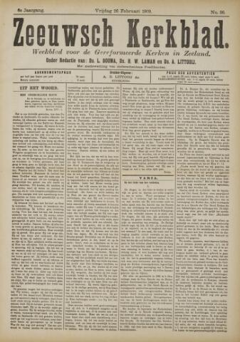 Zeeuwsche kerkbode, weekblad gewijd aan de belangen der gereformeerde kerken/ Zeeuwsch kerkblad 1909-02-26