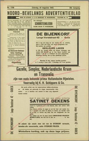 Noord-Bevelands Nieuws- en advertentieblad 1932-08-20