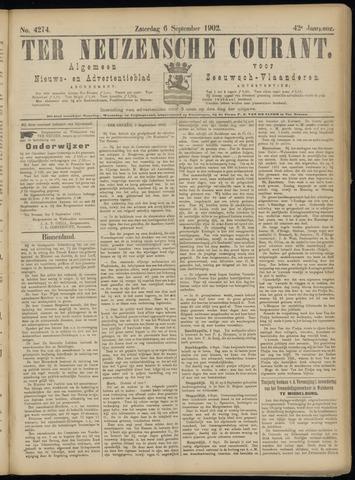 Ter Neuzensche Courant. Algemeen Nieuws- en Advertentieblad voor Zeeuwsch-Vlaanderen / Neuzensche Courant ... (idem) / (Algemeen) nieuws en advertentieblad voor Zeeuwsch-Vlaanderen 1902-09-06