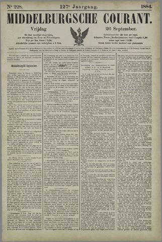 Middelburgsche Courant 1884-09-26