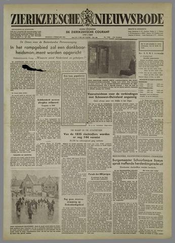 Zierikzeesche Nieuwsbode 1954-02-02