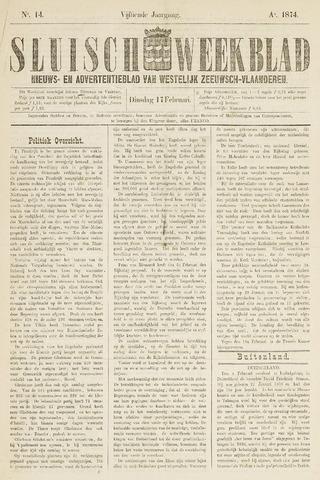 Sluisch Weekblad. Nieuws- en advertentieblad voor Westelijk Zeeuwsch-Vlaanderen 1874-02-17