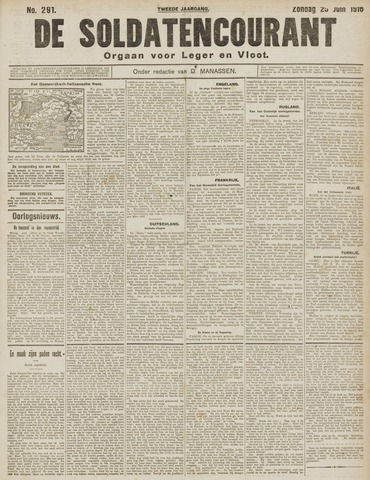 De Soldatencourant. Orgaan voor Leger en Vloot 1916-06-25