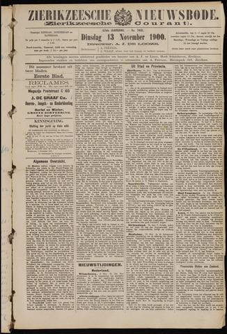 Zierikzeesche Nieuwsbode 1900-11-13