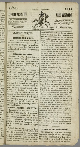 Zierikzeesche Nieuwsbode 1844-12-11