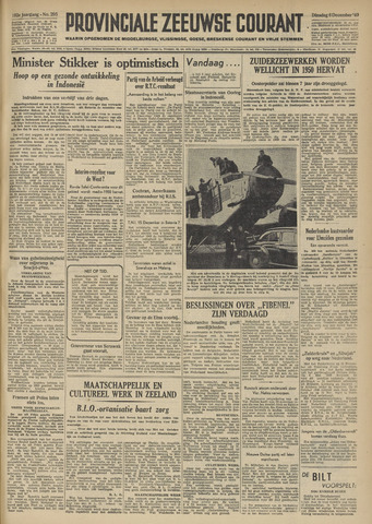 Provinciale Zeeuwse Courant 1949-12-06
