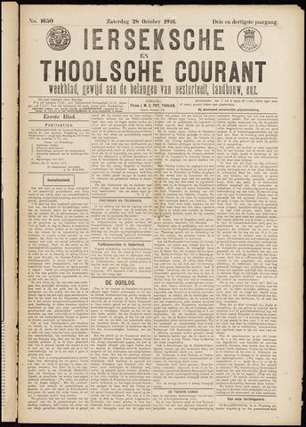 Ierseksche en Thoolsche Courant 1916-10-28