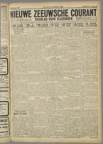 Nieuwe Zeeuwsche Courant 1922-11-28