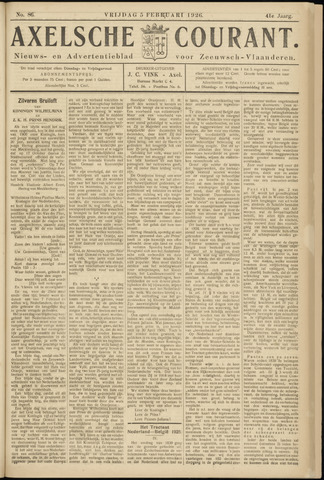 Axelsche Courant 1926-02-05