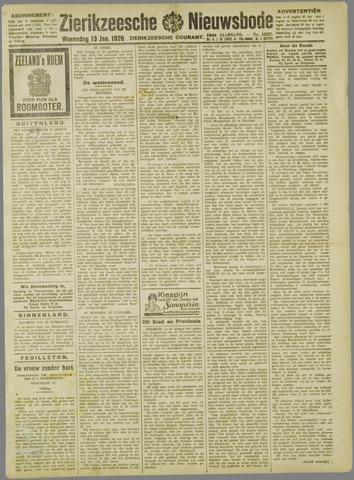 Zierikzeesche Nieuwsbode 1926-01-13