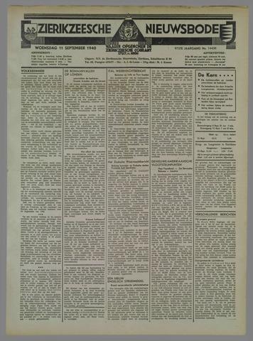 Zierikzeesche Nieuwsbode 1940-09-11