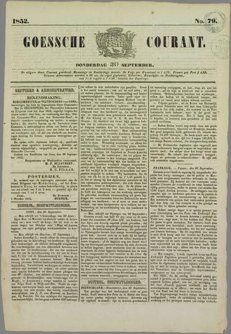 Goessche Courant 1852-09-30