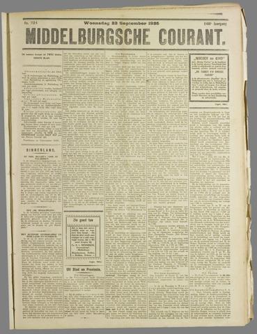 Middelburgsche Courant 1925-09-23