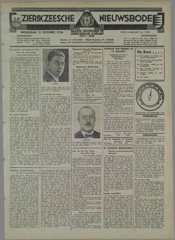 Zierikzeesche Nieuwsbode 1936-10-21