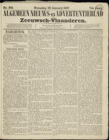 Ter Neuzensche Courant. Algemeen Nieuws- en Advertentieblad voor Zeeuwsch-Vlaanderen / Neuzensche Courant ... (idem) / (Algemeen) nieuws en advertentieblad voor Zeeuwsch-Vlaanderen 1867-01-23
