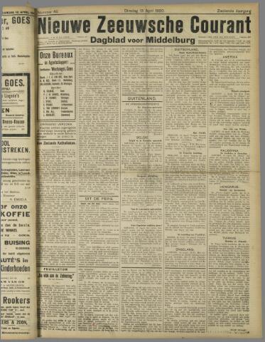 Nieuwe Zeeuwsche Courant 1920-04-13