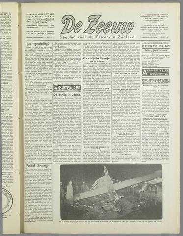 De Zeeuw. Christelijk-historisch nieuwsblad voor Zeeland 1937-11-18