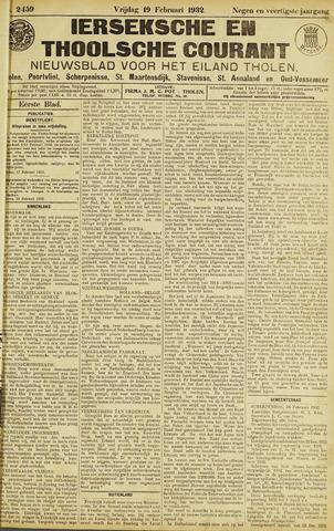 Ierseksche en Thoolsche Courant 1932-02-19